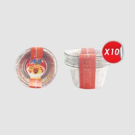 BARQUETTE ALUMUNUM CUPCAKE (LOT DE 10)