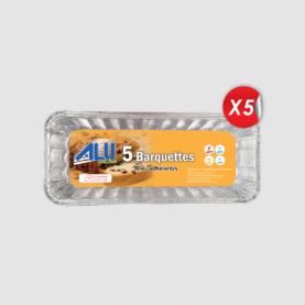 BARQUETTE ALUMINUM CAKE (LOT DE 5)